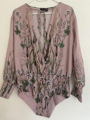 Zara Blusa rosa antico-verde-grigio
