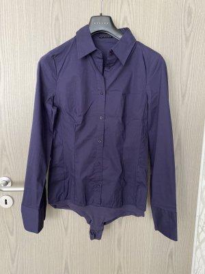 Sisley Blusa tipo body violeta amarronado