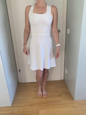 Zara Vestido elástico blanco