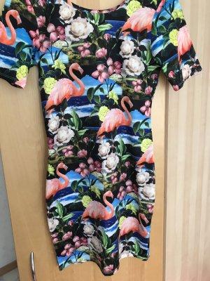 Bodycon-Kleid mit tropischem Muster