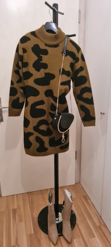 Apart Knitted Dress black-light brown