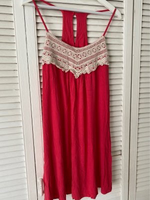 Bodyflirt Hippie Dress beige-raspberry-red