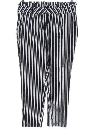 Bodyflirt 7/8 Length Trousers black-white striped pattern casual look