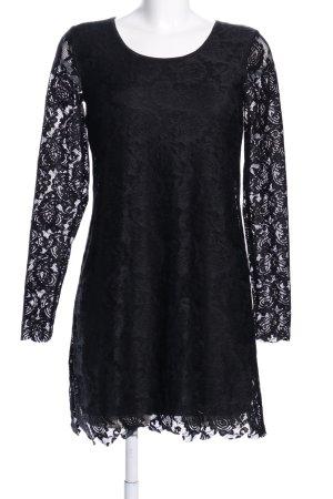 Bodyflirt Abendkleid schwarz Blumenmuster Elegant