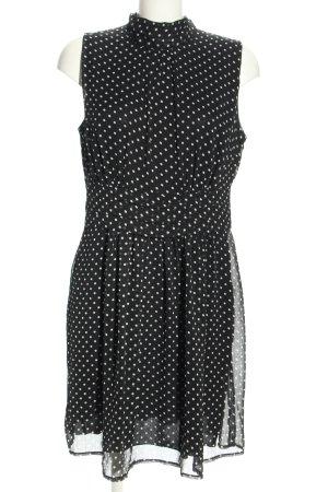 Bodyflirt Blusenkleid schwarz-weiß Allover-Druck Business-Look