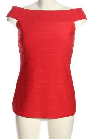Bodyflirt Koszula typu carmen czerwony W stylu casual
