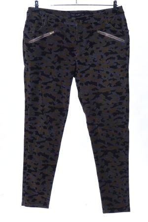 Bodyflirt Pantalon en velours côtelé motif abstrait style décontracté