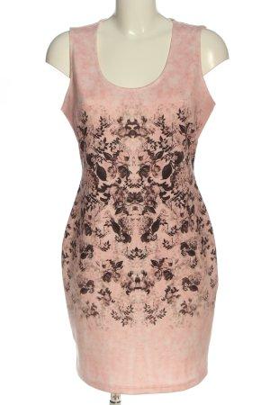 Bodyflirt Etuikleid pink-braun Blumenmuster Casual-Look