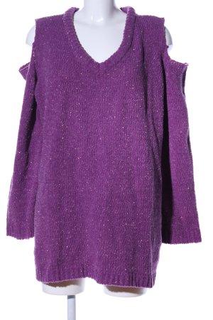 Bodyflirt Pull à gosses mailles violet style décontracté