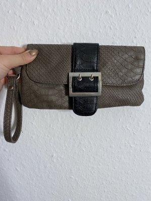 Bodyflirt Handtasche Clutch Tasche Tragetasche Schlangenleder Optik