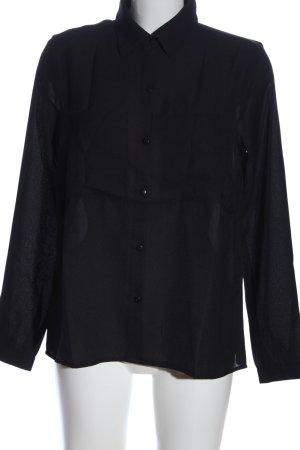 Bodyflirt Hemd-Bluse schwarz Casual-Look