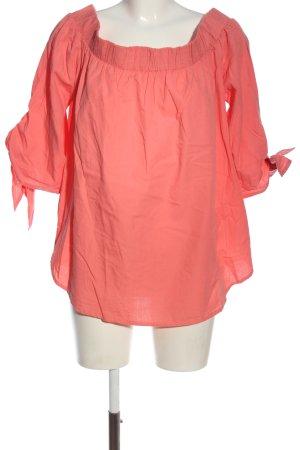 Bodyflirt Kurzarm-Bluse pink Casual-Look