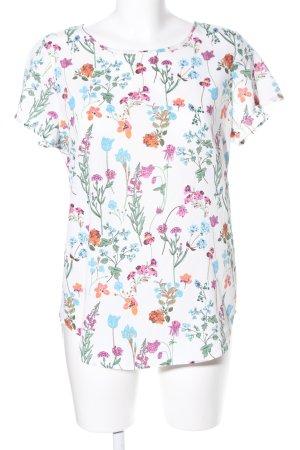 Bodyflirt Kurzarm-Bluse Blumenmuster Casual-Look