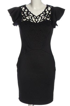 Bodyflirt Kurzarmkleid schwarz Elegant