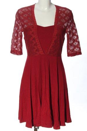 Bodyflirt Kurzarmkleid rot Elegant