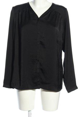 Bodyflirt Langarm-Bluse schwarz Casual-Look