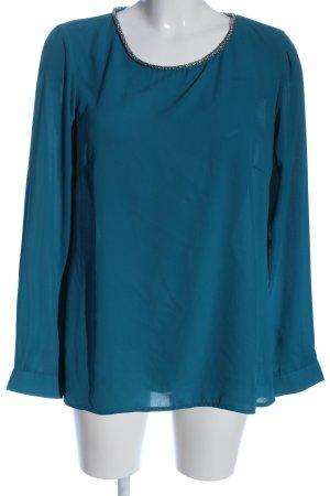 Bodyflirt Langarm-Bluse blau Casual-Look