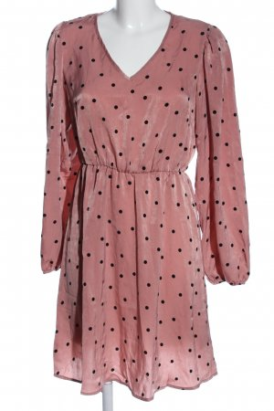 Bodyflirt Langarmkleid pink Punktemuster Elegant