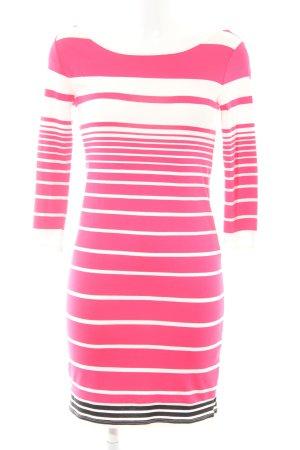 Bodyflirt Langarmkleid weiß-pink Streifenmuster Casual-Look