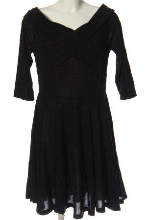 Bodyflirt Minikleid schwarz Glanz-Optik