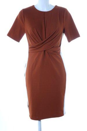 Bodyflirt Minikleid bronzefarben Streifenmuster Business-Look