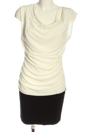 Bodyflirt Minikleid weiß-schwarz Business-Look