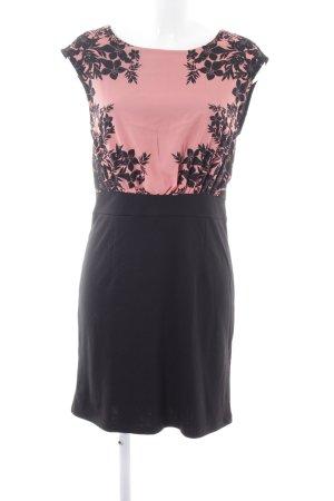 Bodyflirt Minikleid schwarz-pink Blumenmuster Casual-Look