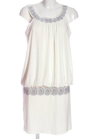 Bodyflirt Minikleid weiß-silberfarben Elegant