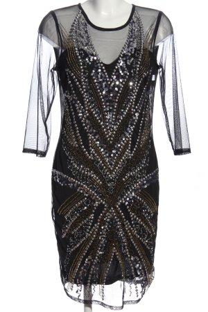 Bodyflirt Cekinowa sukienka czarny Elegancki