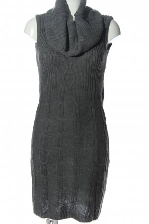 Bodyflirt Sweater Dress light grey cable stitch casual look
