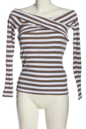 Bodyflirt Ringelshirt bronzefarben-weiß Streifenmuster Casual-Look