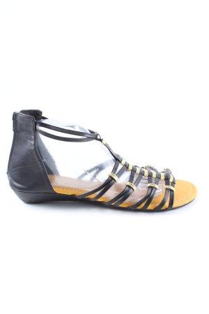 Bodyflirt Sandały rzymskie czarny W stylu casual