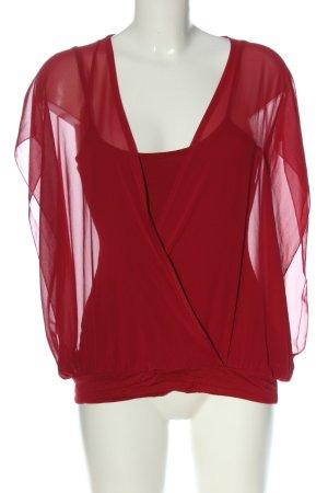 Bodyflirt Slip-over blouse rood casual uitstraling