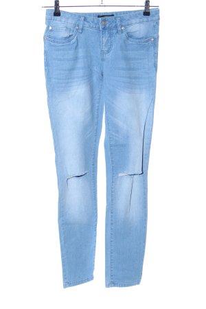 Bodyflirt Slim Jeans blau Casual-Look