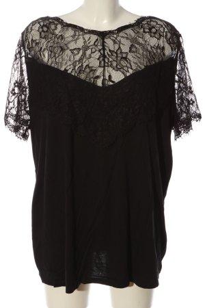 Bodyflirt Blusa in merletto nero motivo floreale stile casual