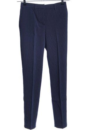 Bodyflirt Stoffhose blau-weiß Streifenmuster Business-Look