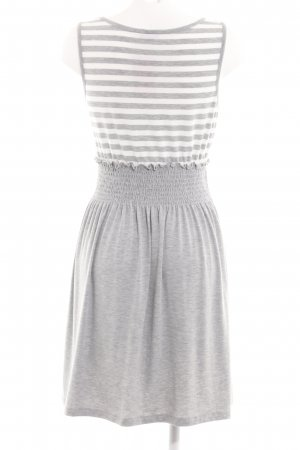 Bodyflirt Vestido elástico gris claro-blanco moteado look casual