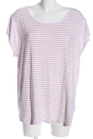 Bodyflirt T-Shirt weiß-pink Streifenmuster Casual-Look