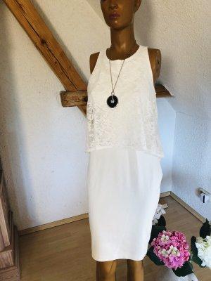 Bodyflirt  tolles Kleid im Lagenlook  ivory Gr 36
