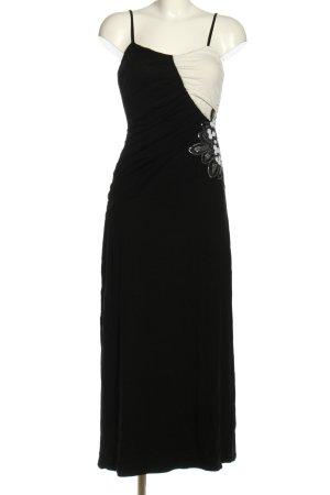Bodyflirt Sukienka na ramiączkach czarny-w kolorze białej wełny Elegancki
