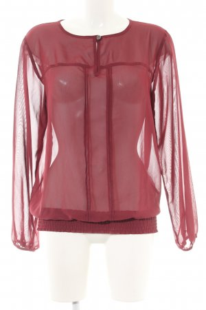 Bodyflirt Transparenz-Bluse rot extravaganter Stil