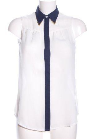 Bodyflirt Transparenz-Bluse wollweiß-blau Casual-Look