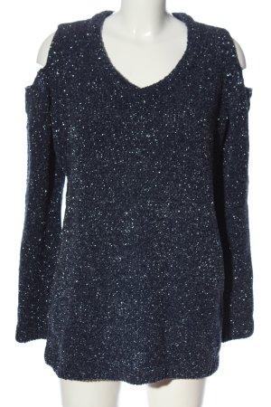 Bodyflirt Sweter z dekoltem w kształcie litery V niebieski W stylu casual