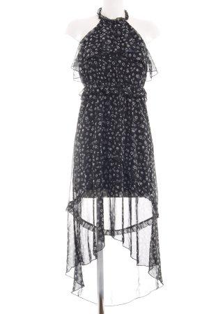 Bodyflirt Vokuhila-Kleid schwarz-weiß Blumenmuster Romantik-Look