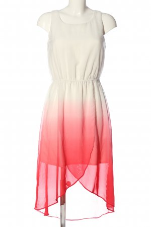 Bodyflirt High Low Dress white-red color gradient elegant