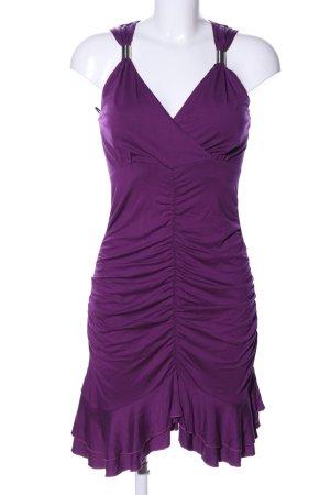 Bodyflirt Robe à volants violet élégant