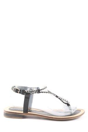 Bodyflirt Toe-Post sandals black-white graphic pattern casual look