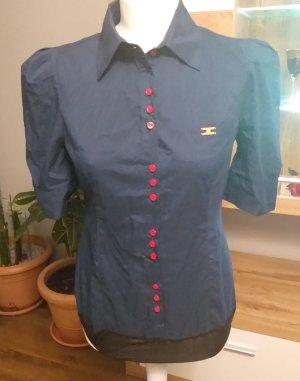 Camicia a maniche corte rosso neon-blu