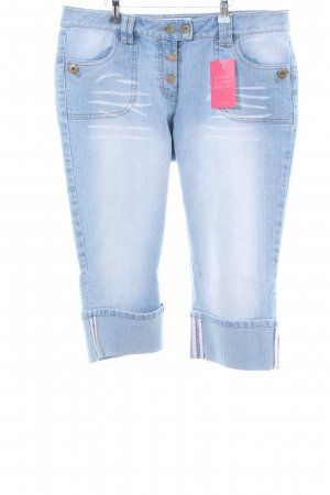 Bodyright 3/4-jeans blauw casual uitstraling