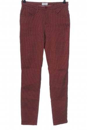 Bodyright Stoffhose rot-weiß Allover-Druck Casual-Look
